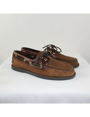 SPERRY Men's Brown Leather Boat Shoes Size 10M