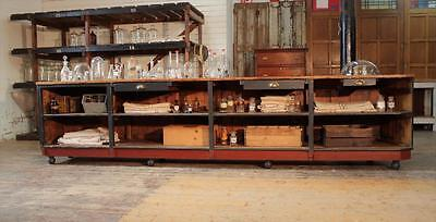 Huge Painted Shop Counter/Kitchen Island/Butchers Block Vintage Haberdashery