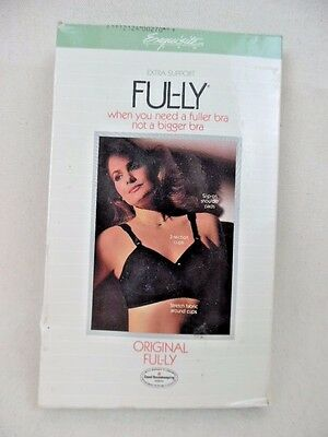 Vintage Ful-ly Extra Support Bra ~ Black ~ 38B