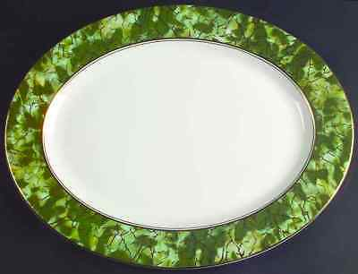 "Aynsley ONYX GREEN 15 3/4"" Oval Serving Platter 855680"