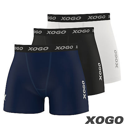New Mens Compression Boxer Shorts Base Layer Briefs Pants Running Gym Fitness