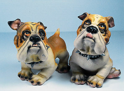 Pair of Dog Figurines with adorable expressions. Good condition, unboxed.