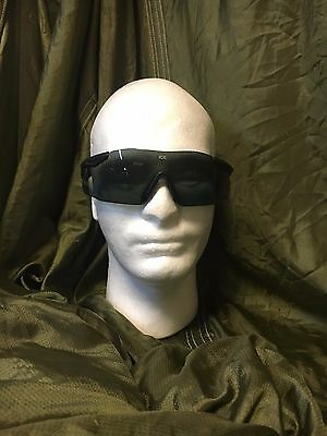ESS US Military Ballistic Protective Shooting Glasses In Smoke and Clear