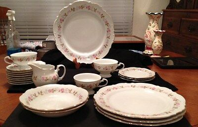 Fine China - Spring Garden - Made in Japan - 21 Pieces