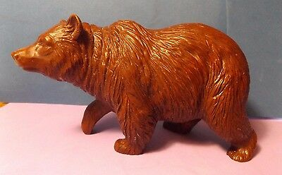 RED MILL 1987 Pecan Shell Walking Grizzly Bear Figure Excellent Condition