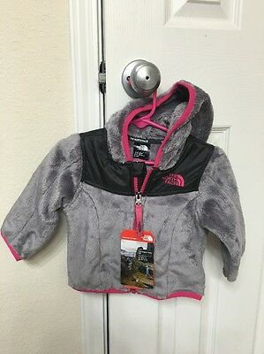 Brand New!!! the North Face Baby Infant Girl Oso hoodie size 6-12M Grey