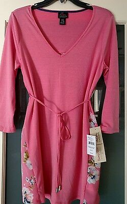 Nwt Oh Baby By Motherhood Maternity Top Long Sleeve Tunic V-Neck Coral Sz S