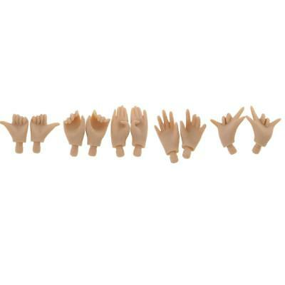 5 Pairs Japanese Skin Movable Jointed Body's Hand For 1/6 Takara Blythe Doll