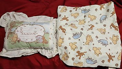 Classic Pooh Pillow and Blanket