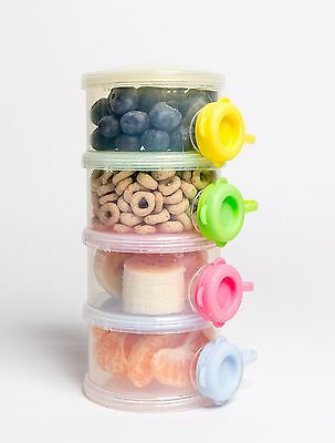 OceanBaby 4 Twist Lock Stackable Container Baby Formula Dispenser