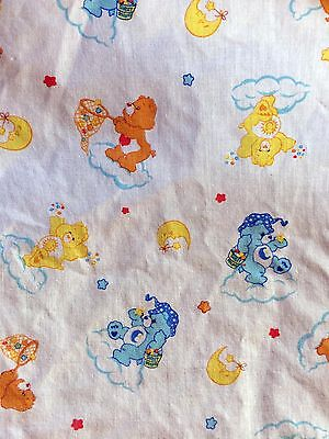 Vintage Care Bears Fitted Crib or Toddler Sheet