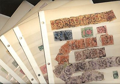 AUSTRALIAN STATES, VICTORIA,  Excellent Assortment of OLD Stamps in stock cards