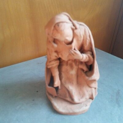 Antique American  Famouse Artist Clay Statue of  Women