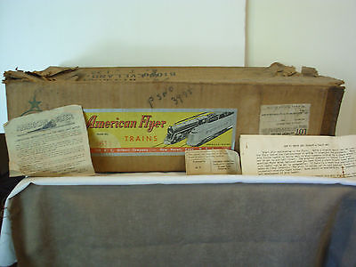 Vintage 1947 American Flyer #4611 Train Set Box & Papers Only Fruth Fostoria Oh.