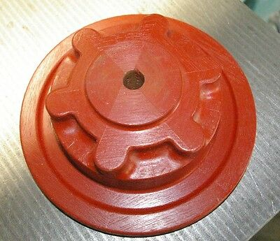 Vintage Solid Mahogany Geometric stepped Circular Pattern Foundry Casting Mold