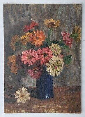 Daisy's Oil Painting On Canvas Board