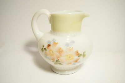Ant. Victorian Cosmos Coreopsis Consolidated Glass Apple Blossom Creamer