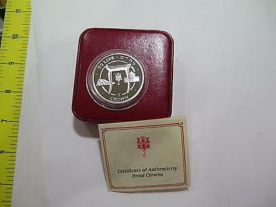 1996 Gibraltar 1 Crown Commemorative To Life Yehuda Synagogue Proof Silver Coin