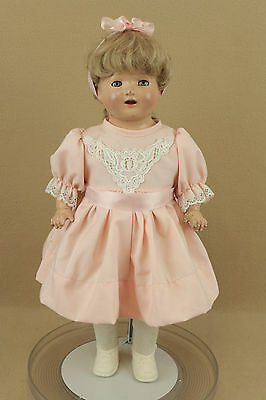 """18"""" Antique Acme Toy Composition Cloth Mama Doll 1930s with Sleepy Eyes """"TLC"""""""