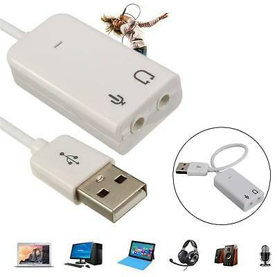USB To 3.5mm Mic/Headphone Jack Stereo Headset Audio Adapter 7.1 Sound Card Hot