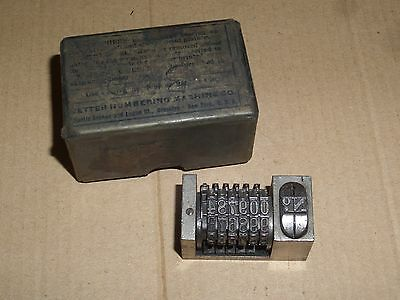 Wetter Letterpress Numbering Machine Nonpareil Model 2 Wheel With Original Box