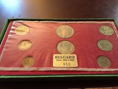 1962-1966 Bulgaria 8 Coin Set