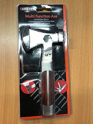 ARETE Multi Function Axe Tool  Hammer Saw Knife File Outdoor Camping 34372