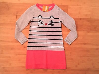 NWT Gymboree Girls Size 10 KITTY IN PINK Sweater Dress NEW