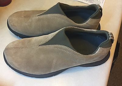 LL Bean Womens Thinsulate Brown Leather Suede Slip-On Loafers Shoes SZ 8