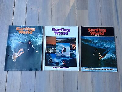 3 Surfing World surf magazines late 70's: Vol 24 No's 1 and 3, Vol 23 No. 6
