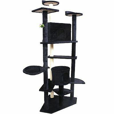 "New 80"" Cat Tree Condo Furniture Scratching Post Pet Cat Kitten House Navy blue"