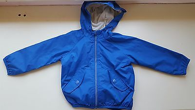 ZARA baby boy 12-18 months outerwear collection blue lined jacket cot zip hood