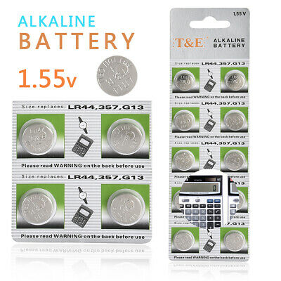 10x 1.5V AG13 LR44 L1154 RW82 RW42 SR1154 SP76 A76 SR44 Button Cell Coin Battery