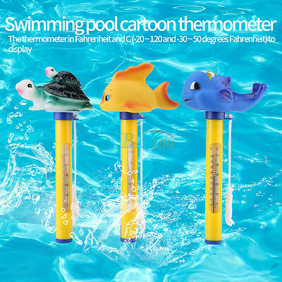 Cute Animal Floating Thermometer for Outdoor & Indoor Swimming Pools Hot Tubs BD