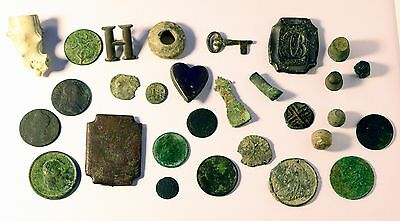 Metal detecting finds and a clay pipe bowl