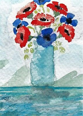 VaSE oF FLOWeRS 1 . oRiGiNaL WaTeRCoLoUR PAiNTiNG signed