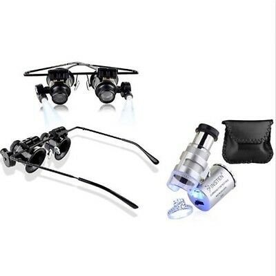 Magnifier+60x Magnifying Eye Glasses Jeweler Jewelry Loupe Loop LED Light AU