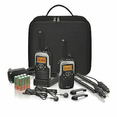 Binatone Action 1100 Walkie Talkie Twin Pack with Travel Pack up to 10km Range