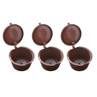 3x Reusable Eco-Friendly Coffee Capsules Fill Pods for DOLCE GUSTO Circolo HS890