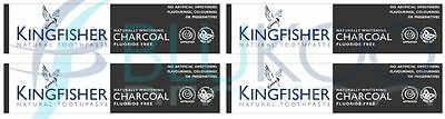 Kingfisher Charcoal Naturally Whitening Natural Toothpaste - 100ml (Pack of 4)
