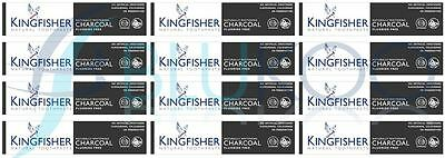 Kingfisher Charcoal Naturally Whitening Natural Toothpaste - 100ml (Pack of 12)