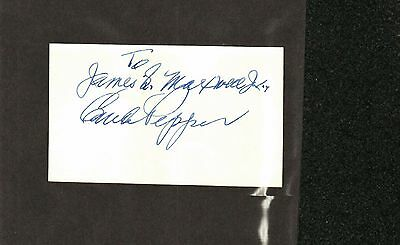 Claude Pepper Signed Index Card