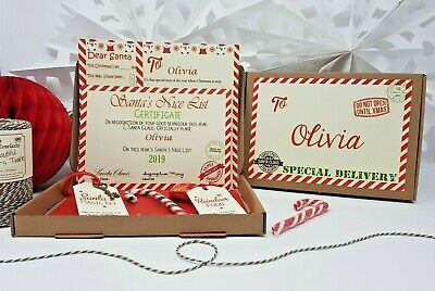 Christmas Eve Box Personalised A5 Size Santa Letter Magic Key & Reindeer Food