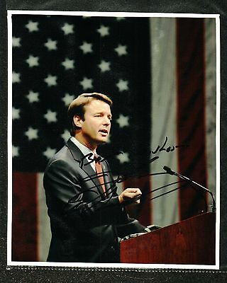 John Edwards Signed Photo Uninscribed American Flag Backdrop