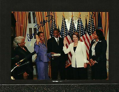 Donna Edwards Signed Swearing In Photo With Nancy Pelosi & Family