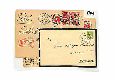 PP163 1926 1937 Estonia Cover x3 {samwells-covers}