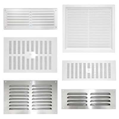 AIR VENT Louvre Hit and Miss Ventilation Wall Door Duct Cover WHITE ALUMINIUM