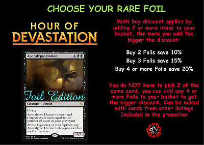 MTG Hour of Devastation HOU Choose your Rare Foil - Mint