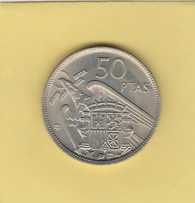 Spain 50P 1957 (60) - Choice Uncirculated - FREE SHIPPING