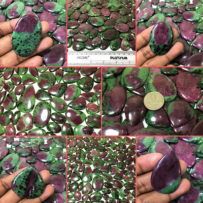 Natural Ruby Zoisite (Anyolite) Healing Crystal Cabochon Lot in Wholesale Price